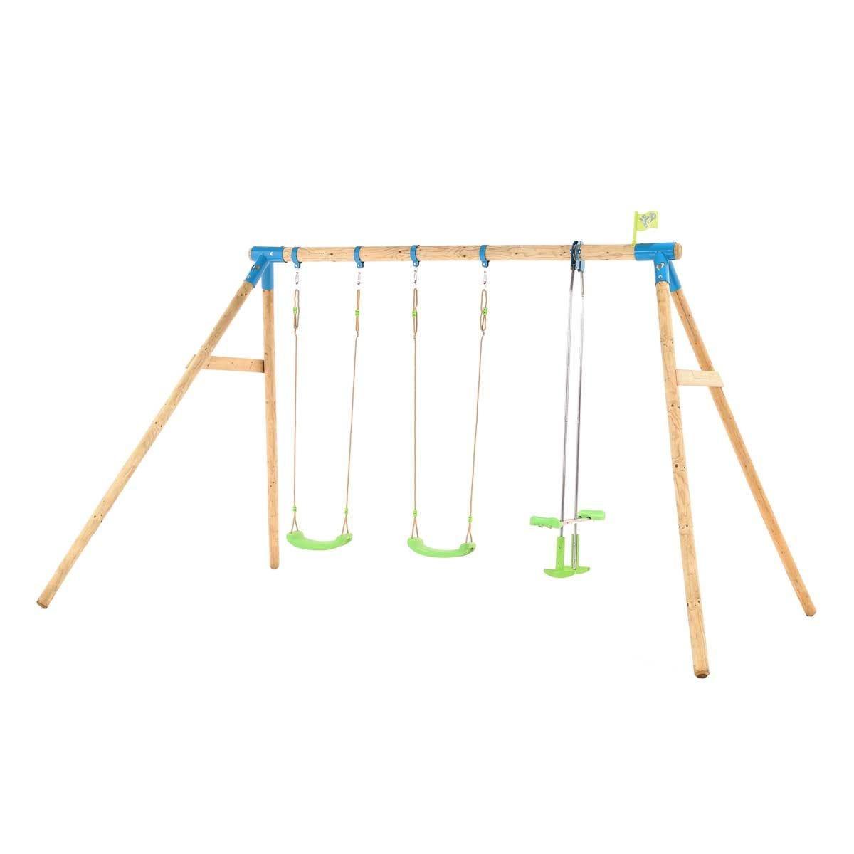 TP Toys Woburn Wooden Triple Swing Set