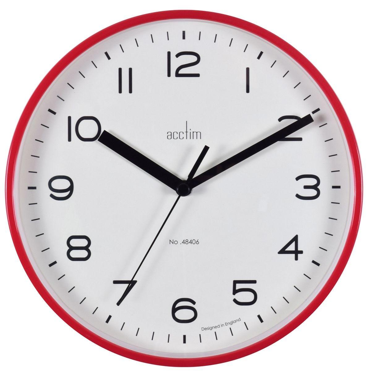 Acctim 'Runwell' Wall Clock - Shiraz Red