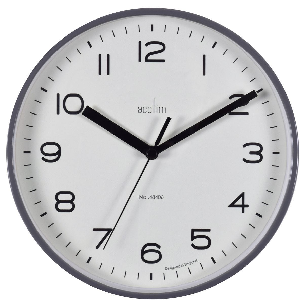 Acctim 'Runwell' Wall Clock - Smoke Grey