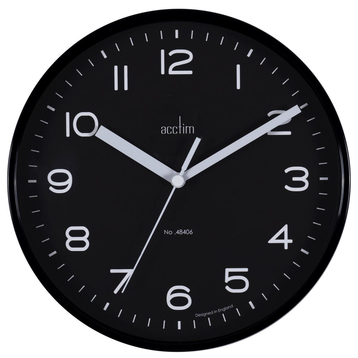 Acctim 'Runwell' Wall Clock - Raven Black