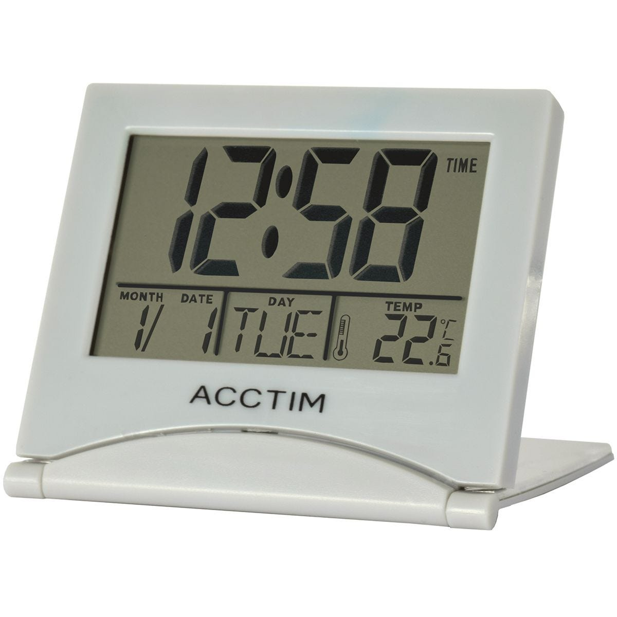 Acctim 'Mini Flip II' LCD Alarm Clock - Grey