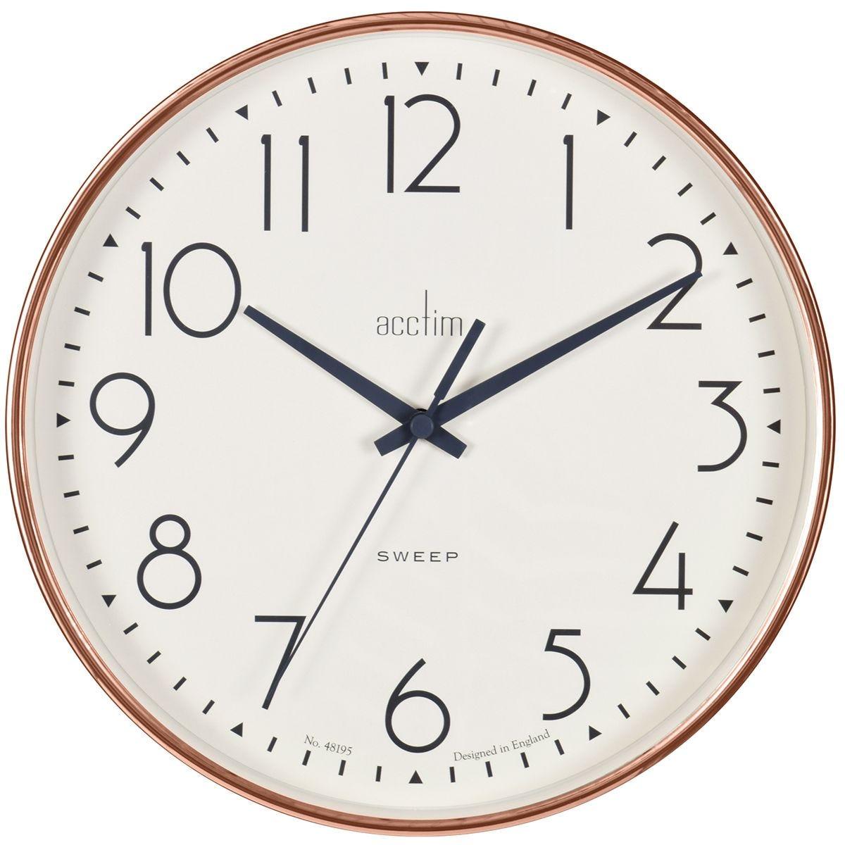 Acctim 'Earl' 25cm Sweep Wall Clock - Copper