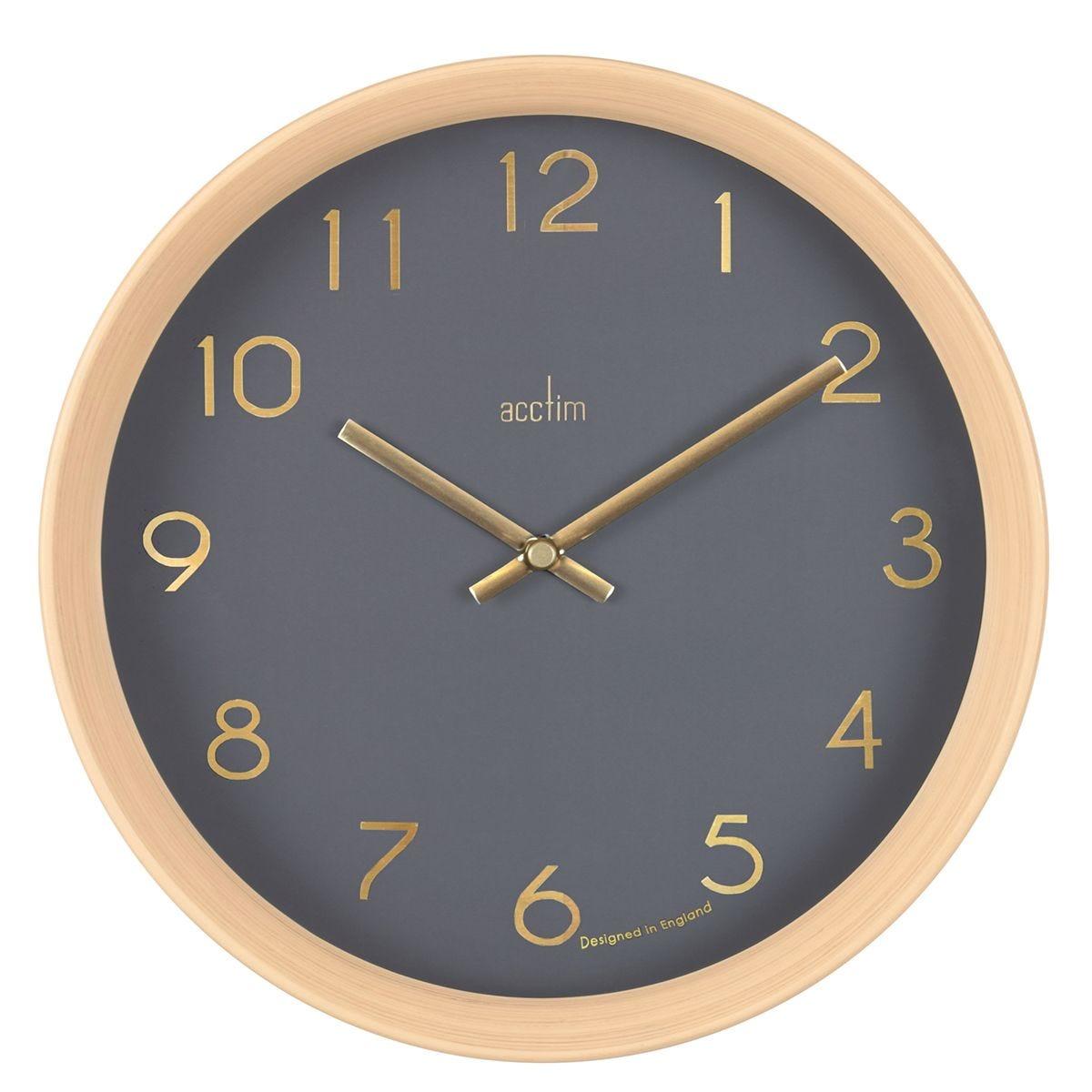 Acctim 'Upsilon' 25cm Light Wood Effect Wall Clock