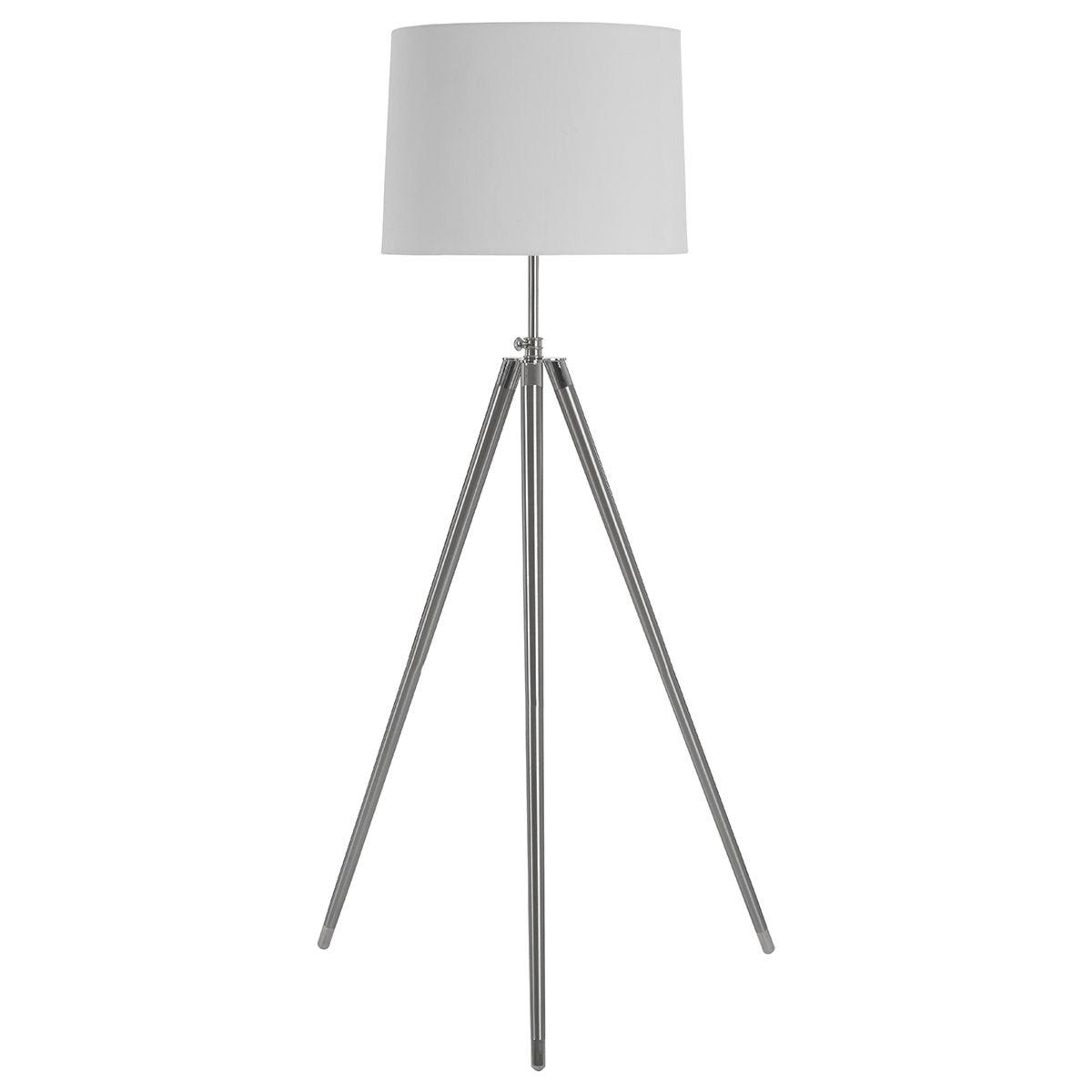 Premier Housewares Unique Tripod Floor Lamp With Cream Shade Robert Dyas
