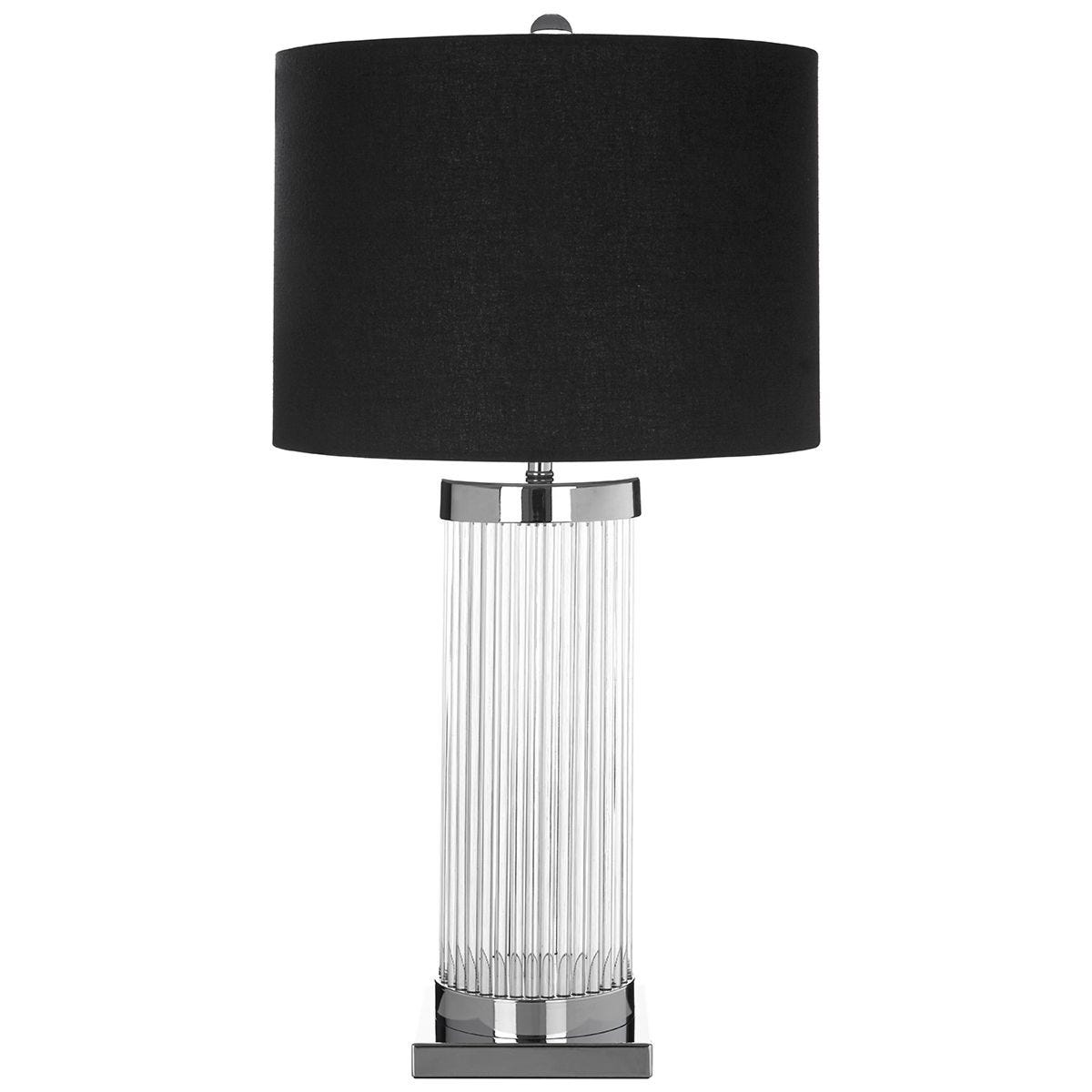 Premier Housewares Lily Table Lamp with Black Shade