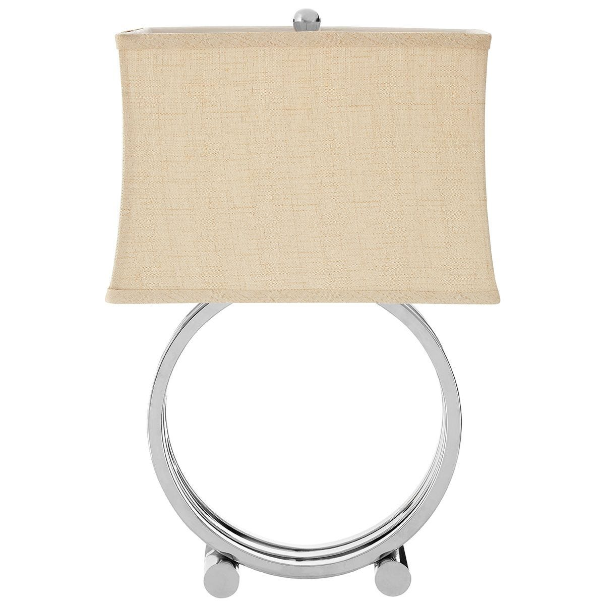 Premier Housewares Circlet Table Lamp with Metal Base & Natural Fabric Shade