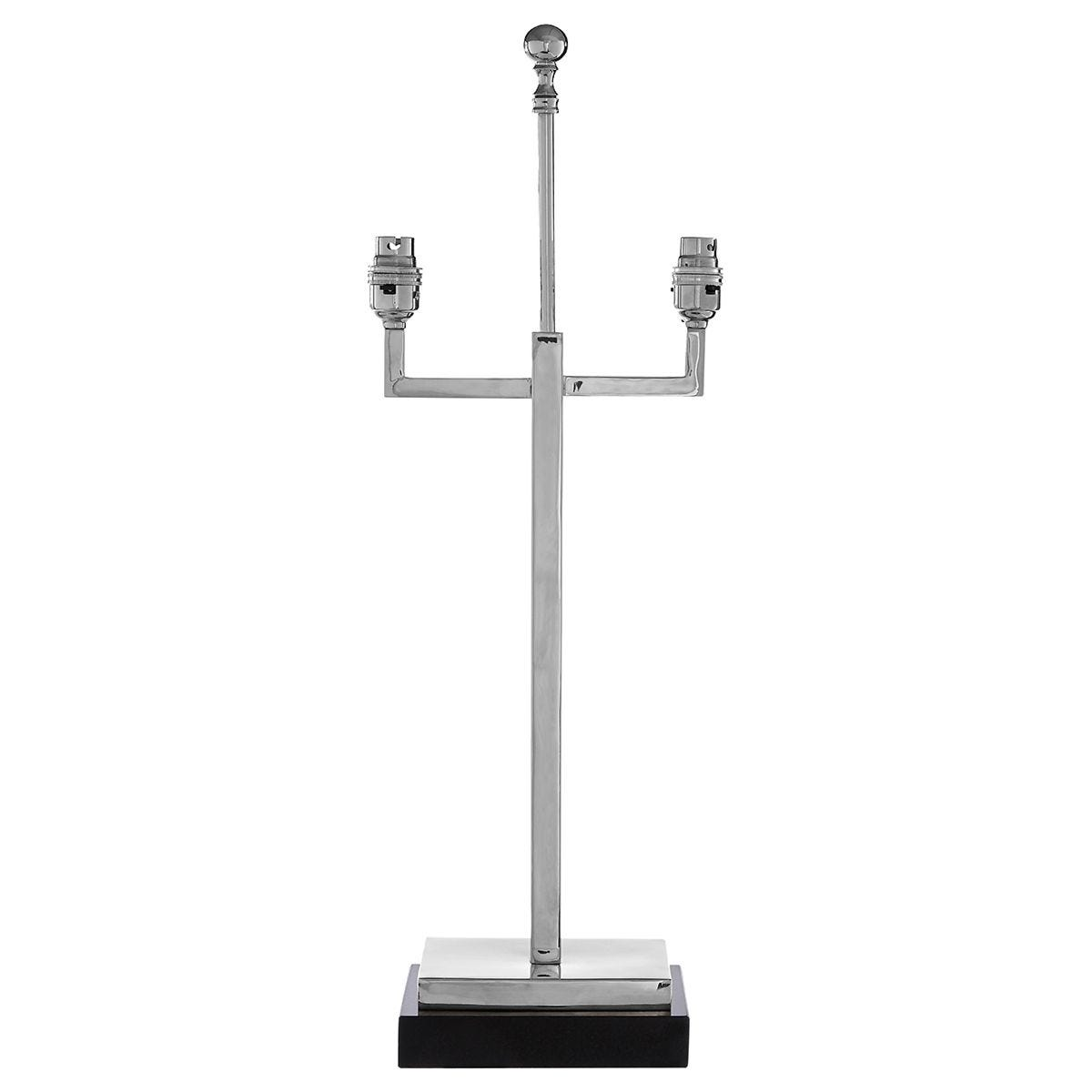 Premier Housewares Chancel Lamp Base in Nickel Finish with Marble Base