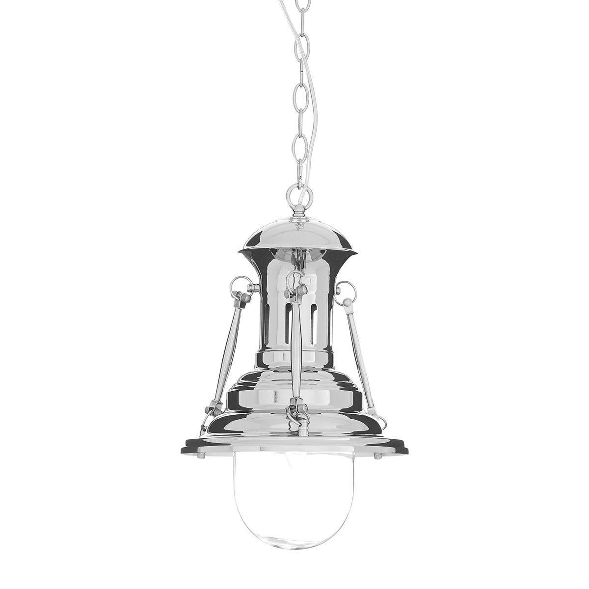 Premier Housewares Lexington Small Lighthouse Pendant Light - Chrome