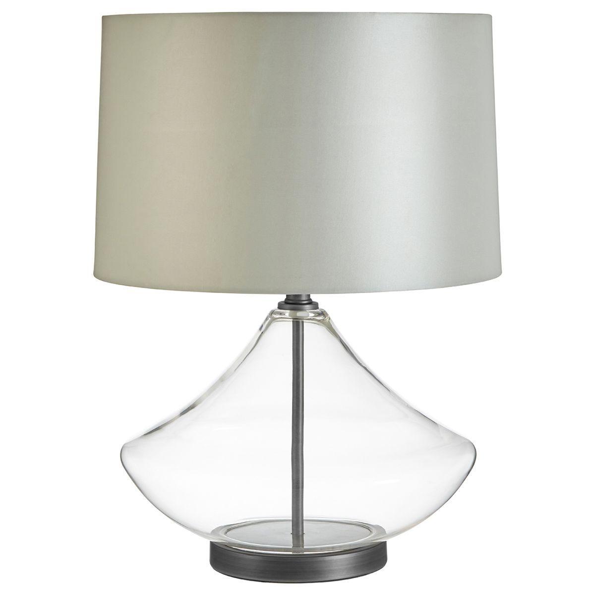 Premier Housewares Usha Table Lamp Light Grey Shade
