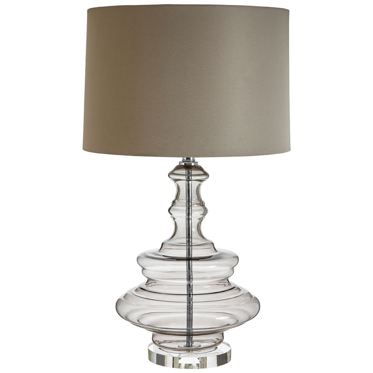 Premier Housewares Urania Table Lamp with Grey Shade