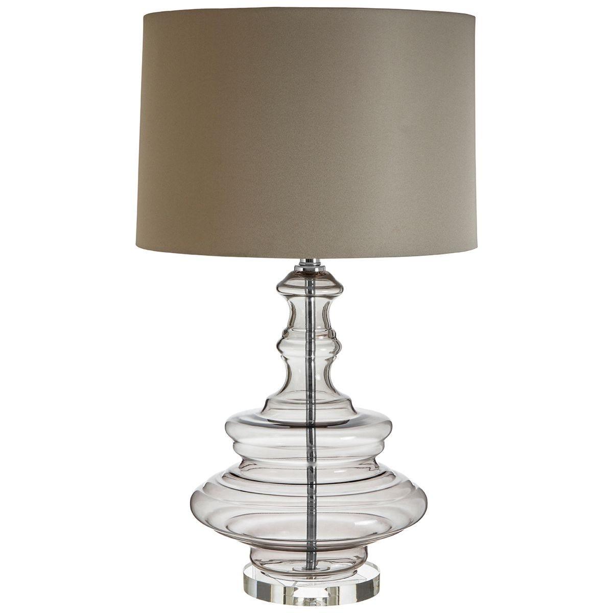 Premier Housewares Urania Table Lamp with Grey Shade