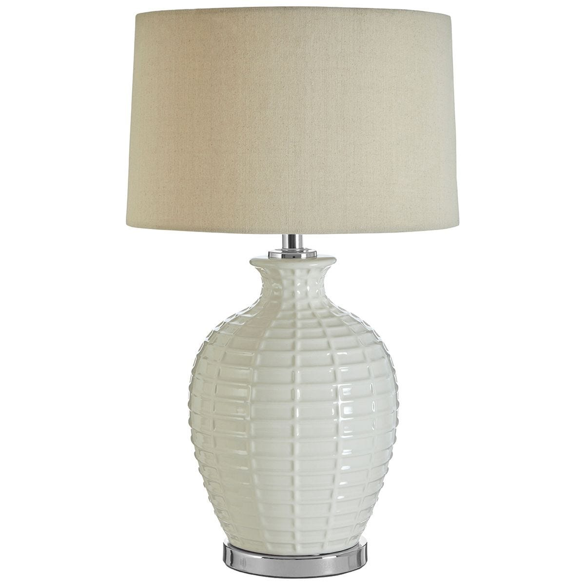 Premier Housewares Uzma Table Lamp with Natural Linen Shade