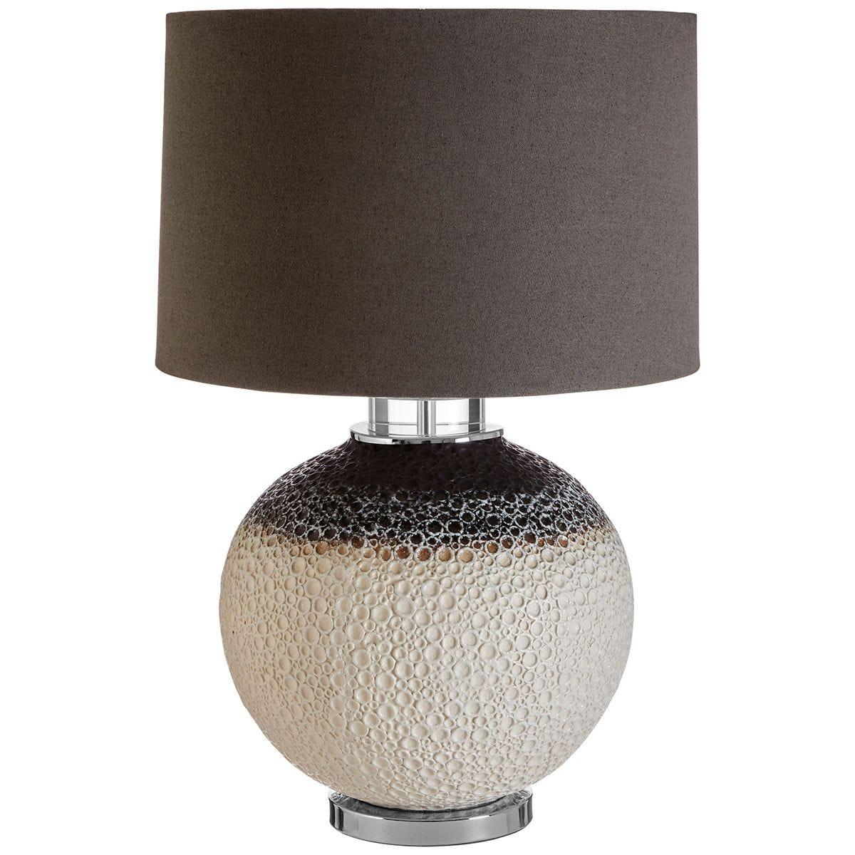 Premier Housewares Uli Table Lamp with Dark Grey Shade