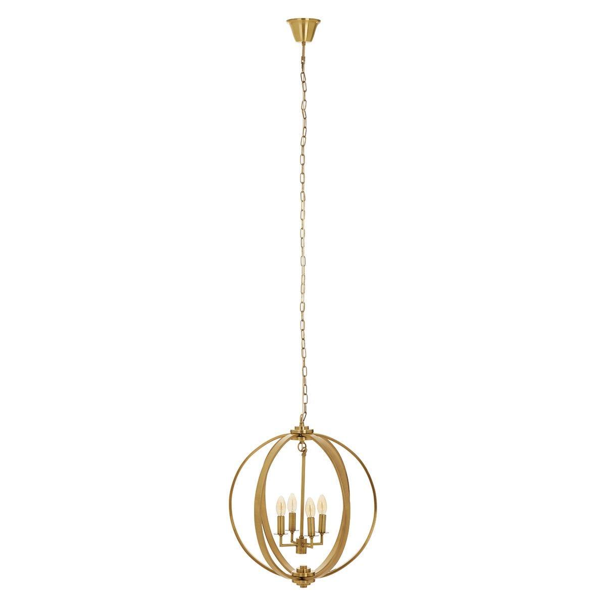 Premier Housewares Censer Pendant Lamp - Antique Brass Finish