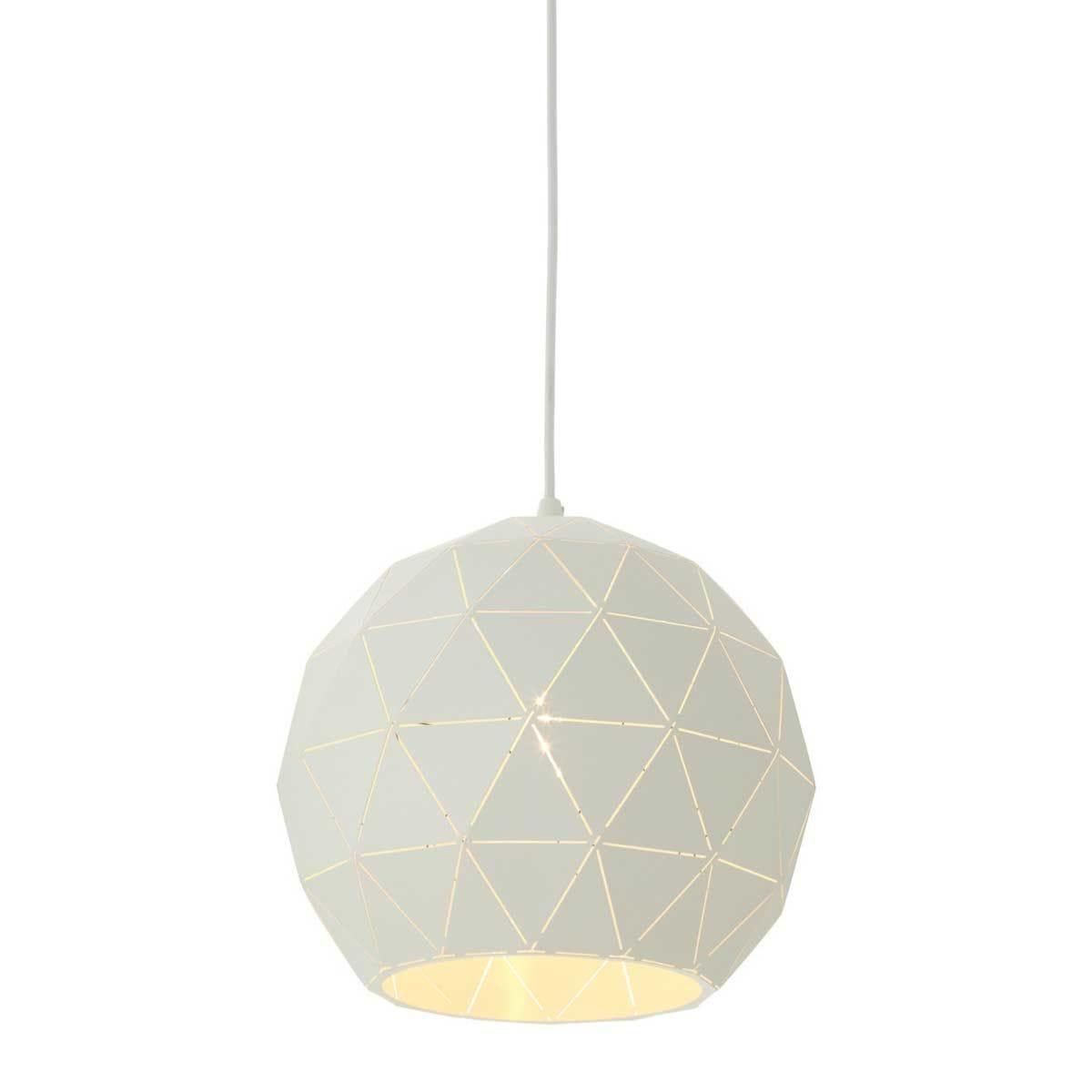 Premier Housewares Small Mateo Pendant Ceiling Light - White