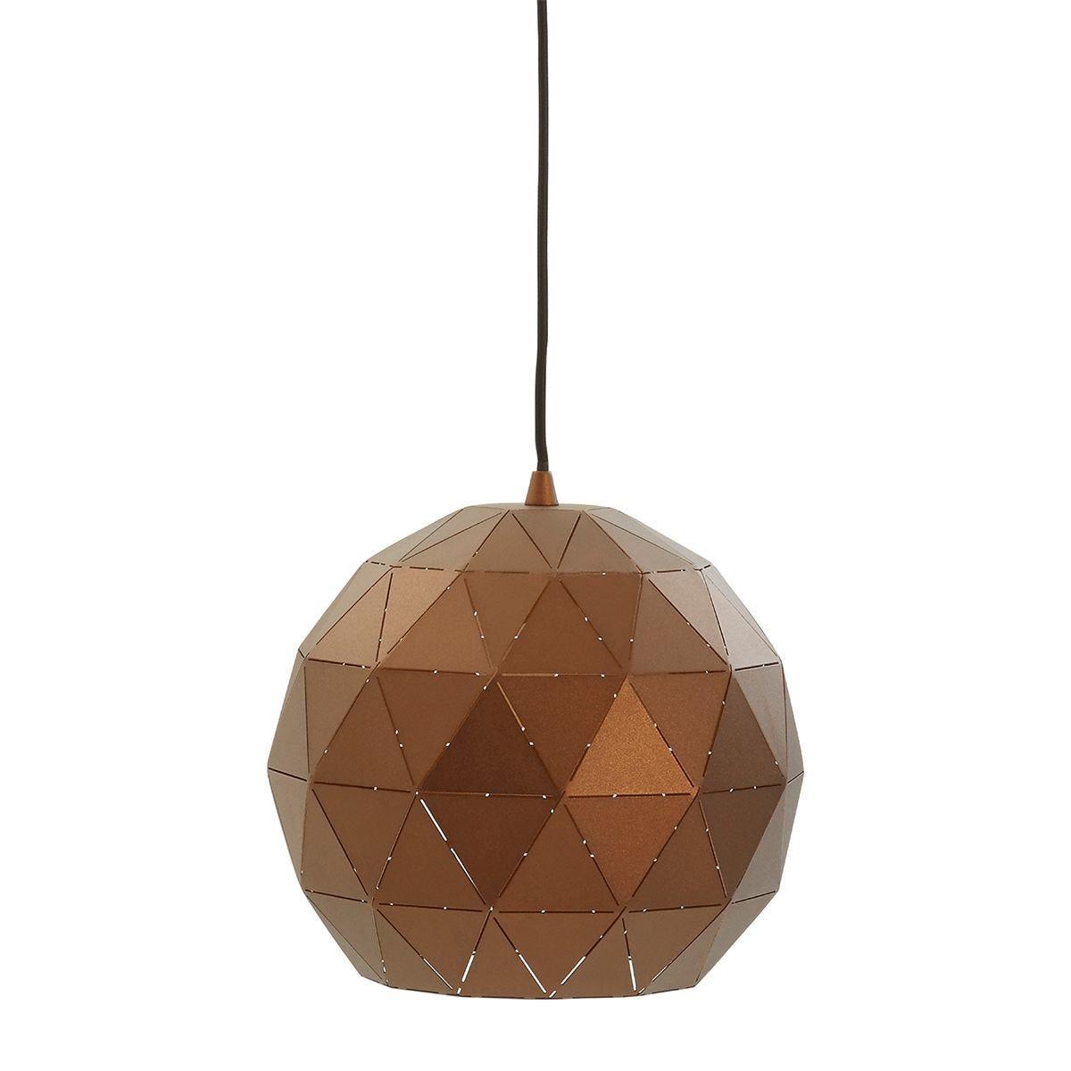 Premier Housewares Mateo Geometric Light - Copper Finish