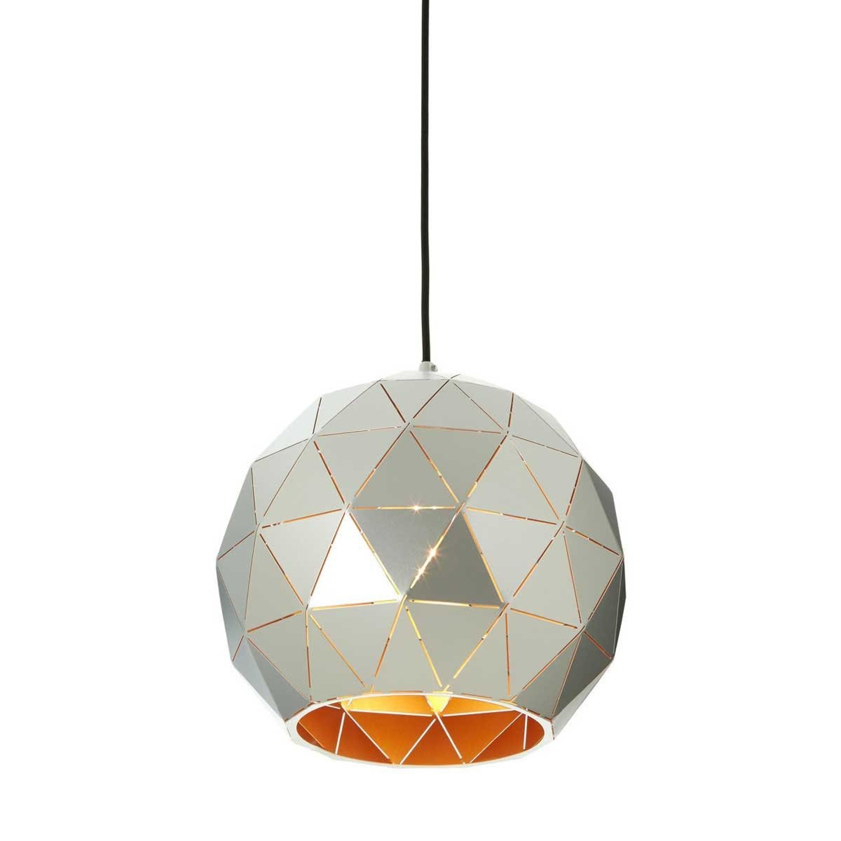 Premier Housewares Small Mateo Pendant Ceiling Light - Silver