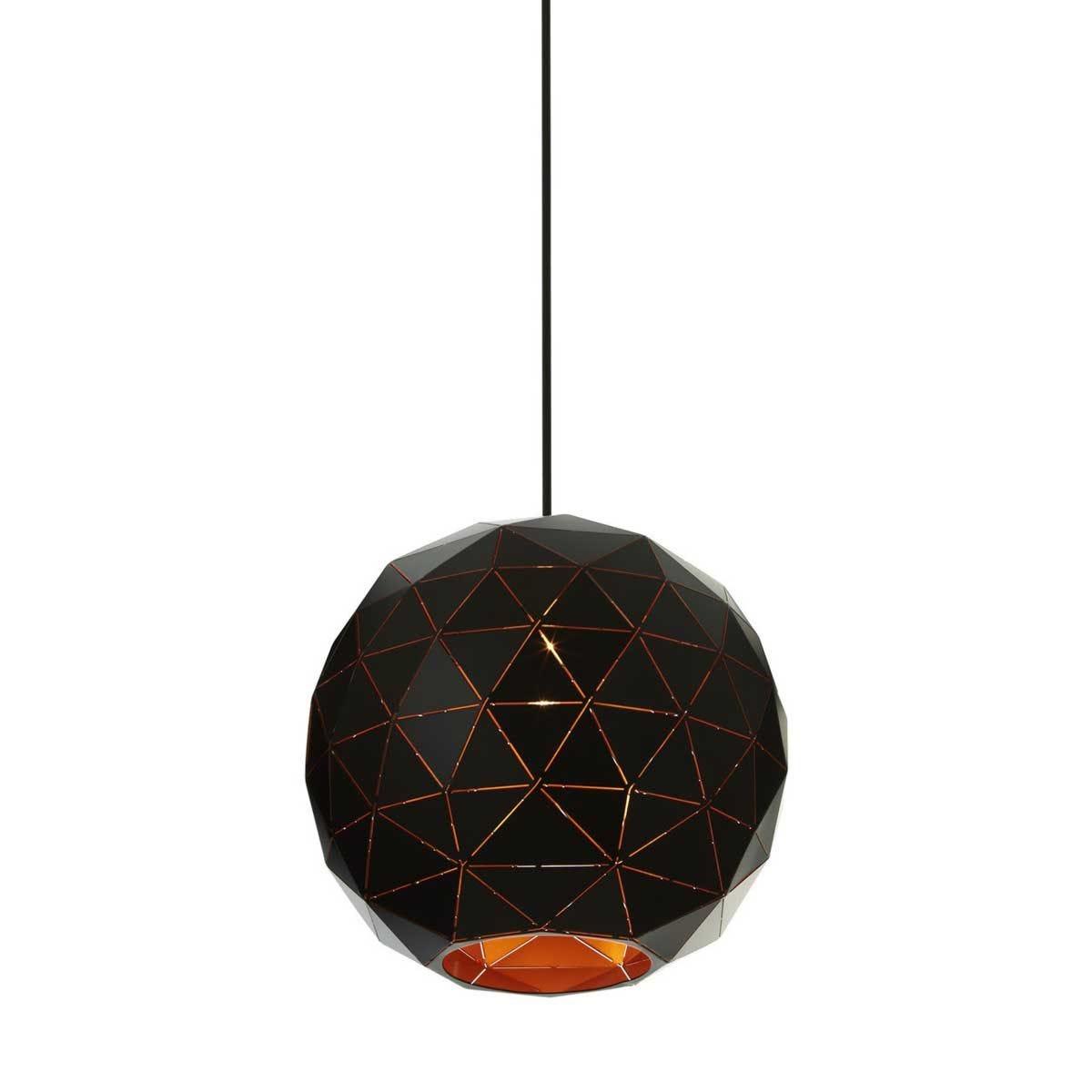 Premier Housewares Medium Mateo Pendant Ceiling Light - Black