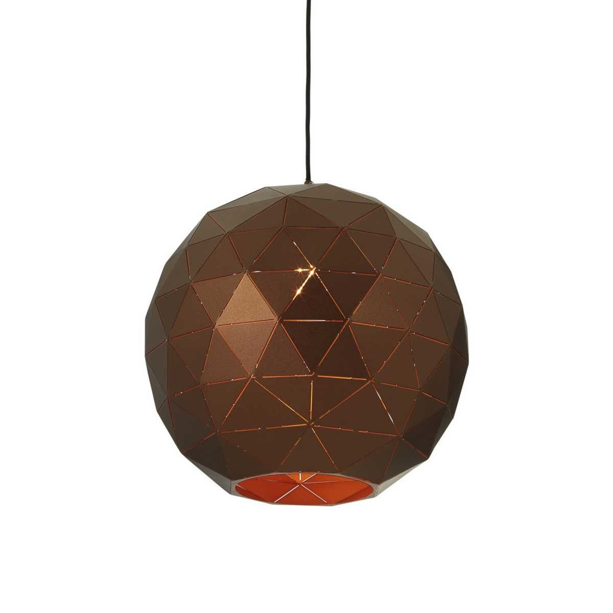 Premier Housewares Medium Mateo Pendant Ceiling Light - Brown