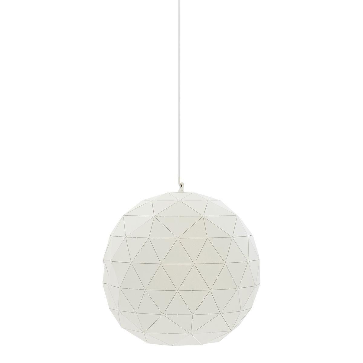 Premier Housewares Mateo Geometric Light - White Finish