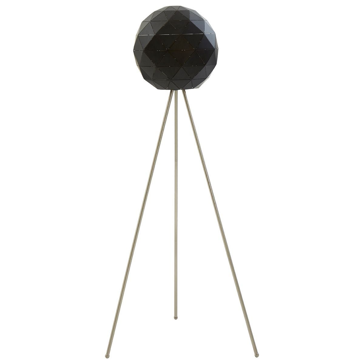 Premier Housewares Mateo Geometric Floor Lamp with Steel Base - Black
