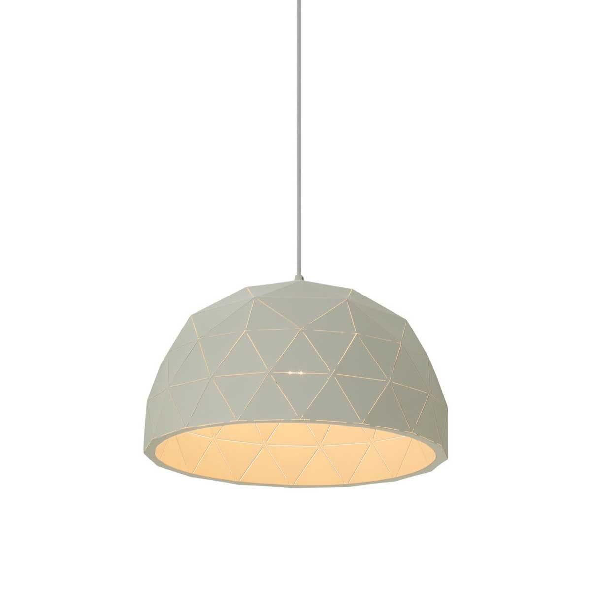 Premier Housewares Mateo Small Dome Pendant Light - White