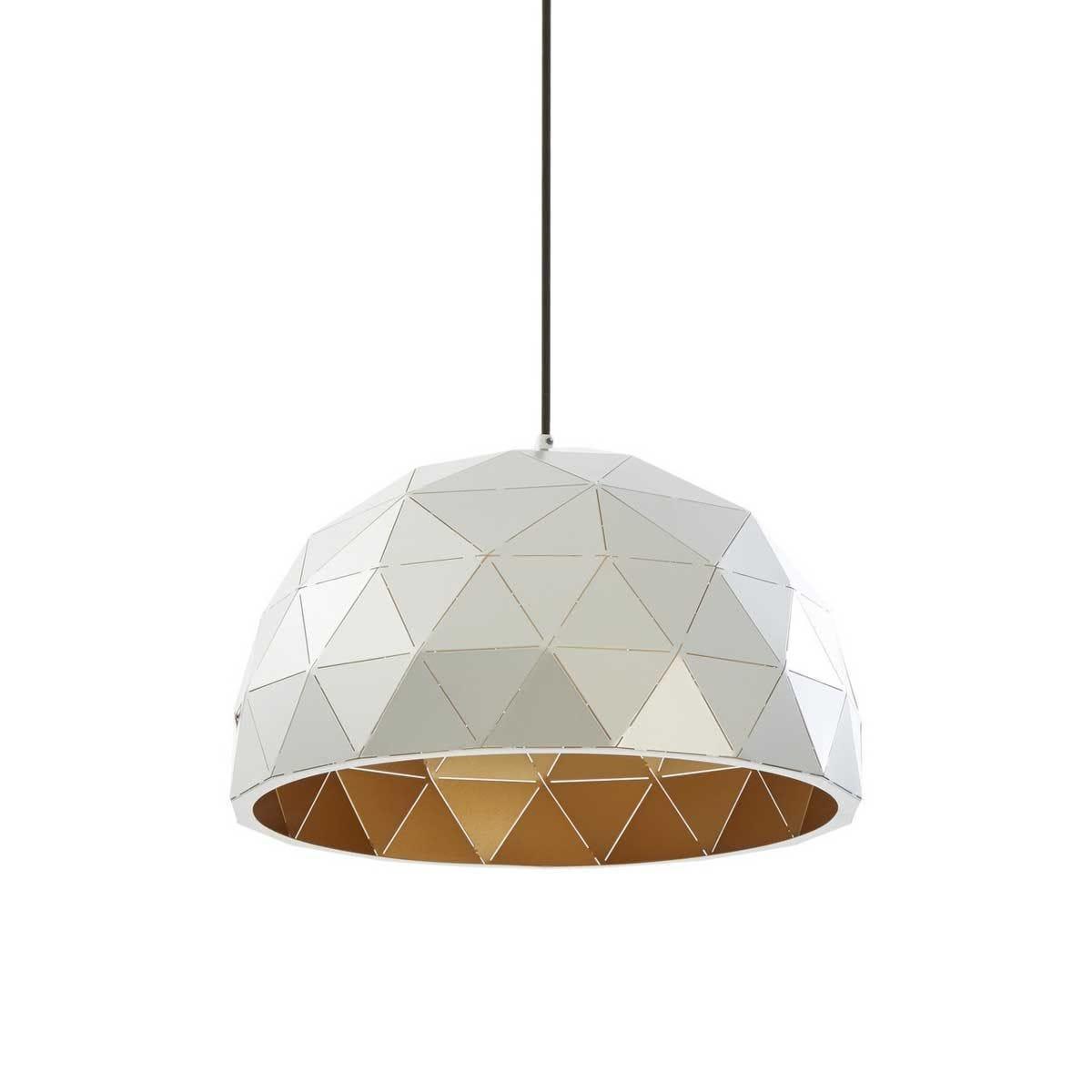 Premier Housewares Mateo Small Dome Pendant Light - Silver