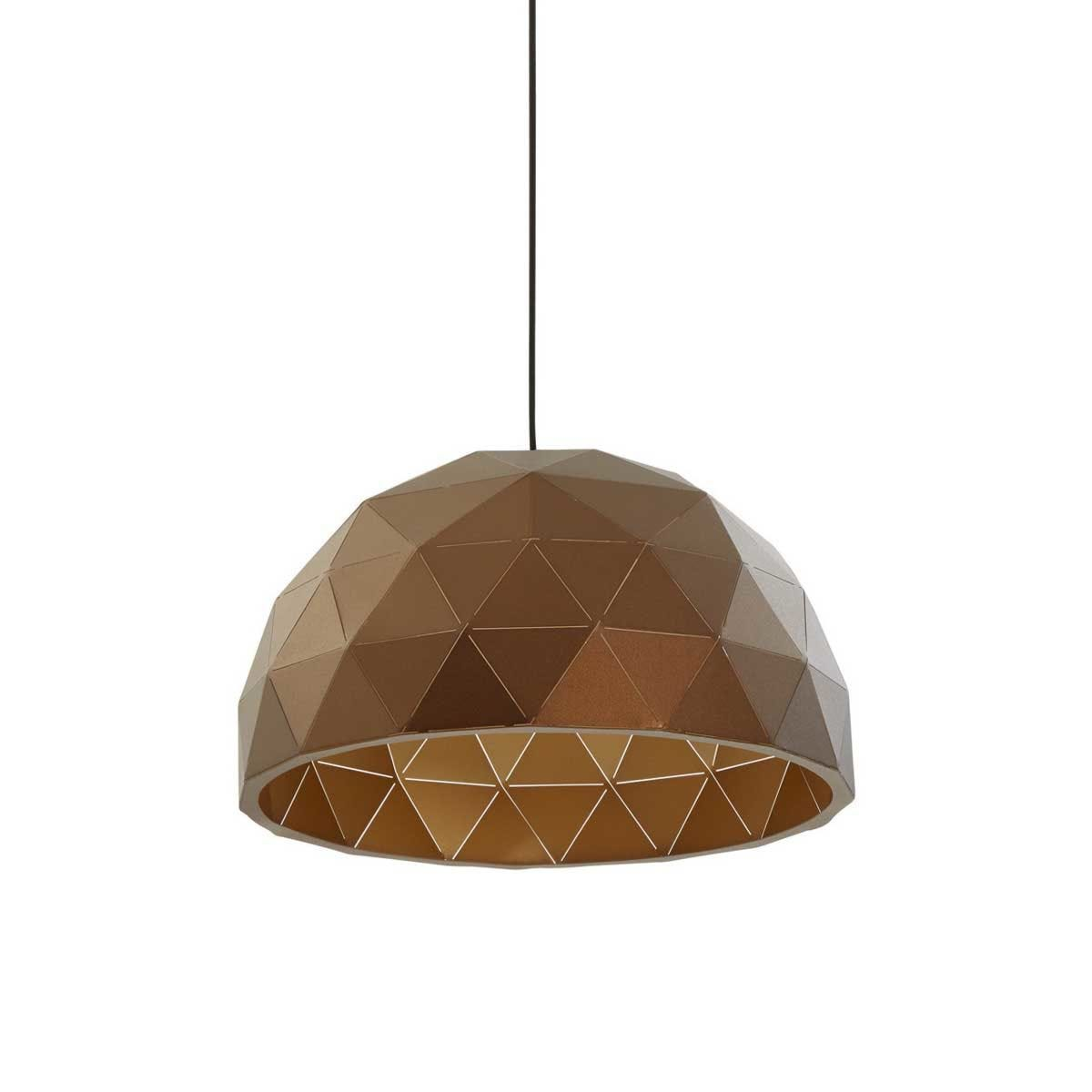 Premier Housewares Mateo Medium Dome Pendant Light - Brown