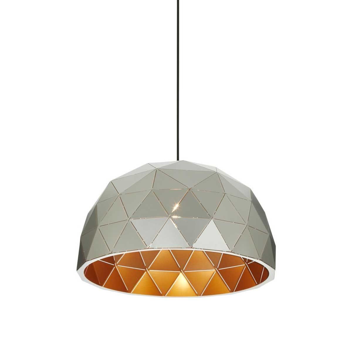 Premier Housewares Mateo Medium Dome Pendant Light - Silver