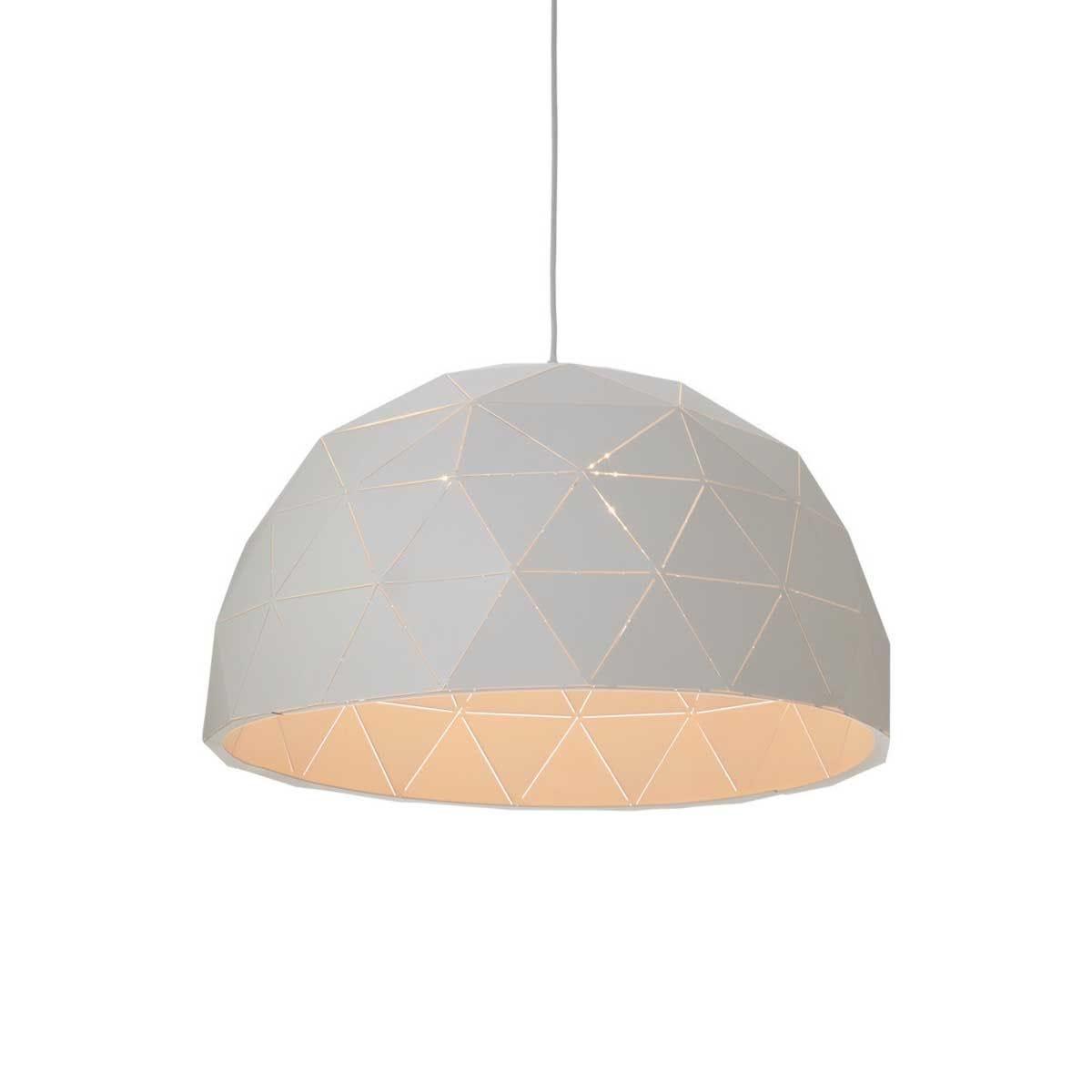 Premier Housewares Mateo Large Dome Pendant Light - White