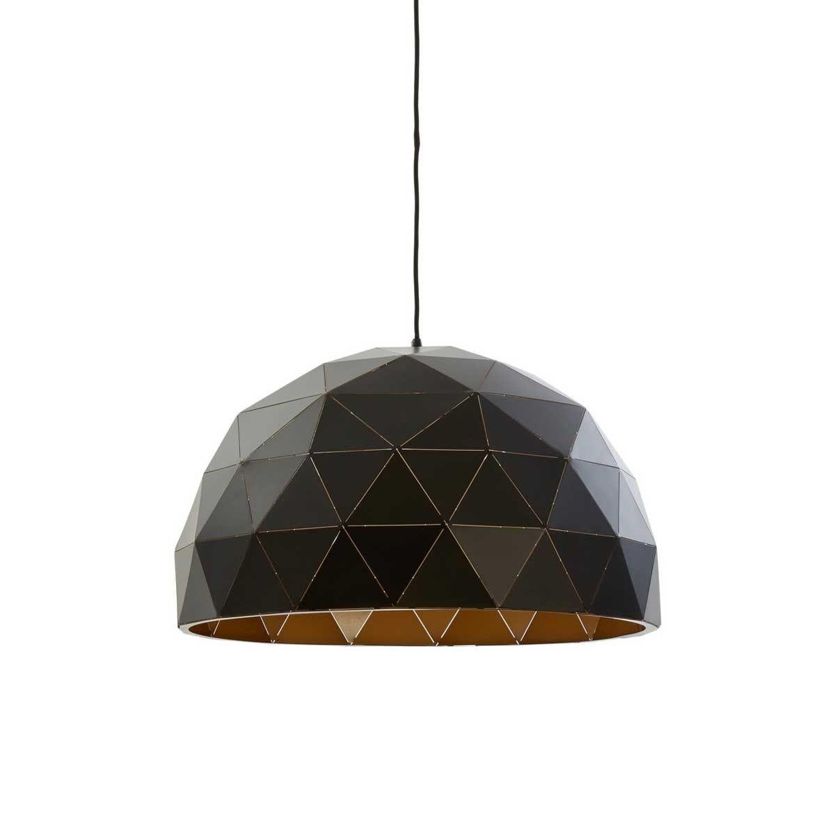 Premier Housewares Mateo Large Dome Pendant Light - Black/Copper