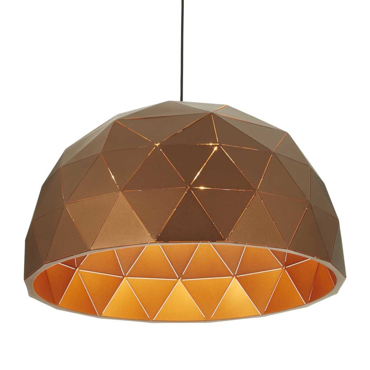 Premier Housewares Mateo Large Dome Pendant Light - Brown