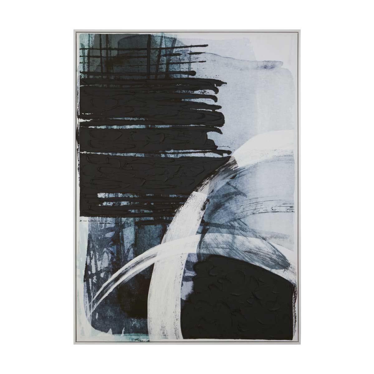 Premier Housewares Astratto Blue/Black Wall Art