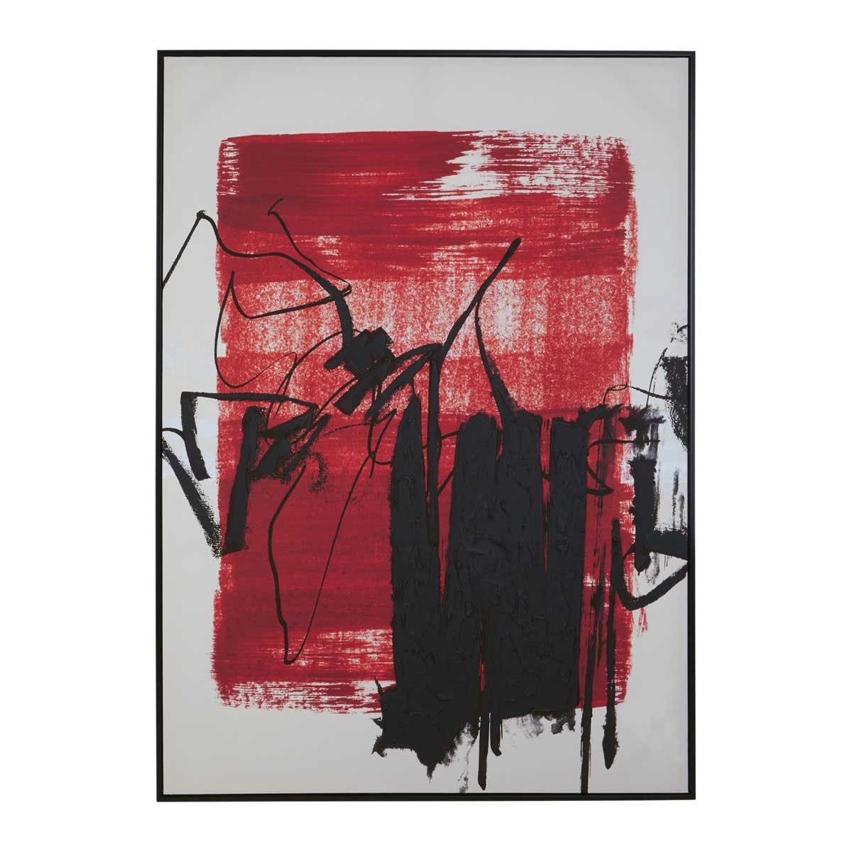 Premier Housewares Astratto Red/Black Wall Art