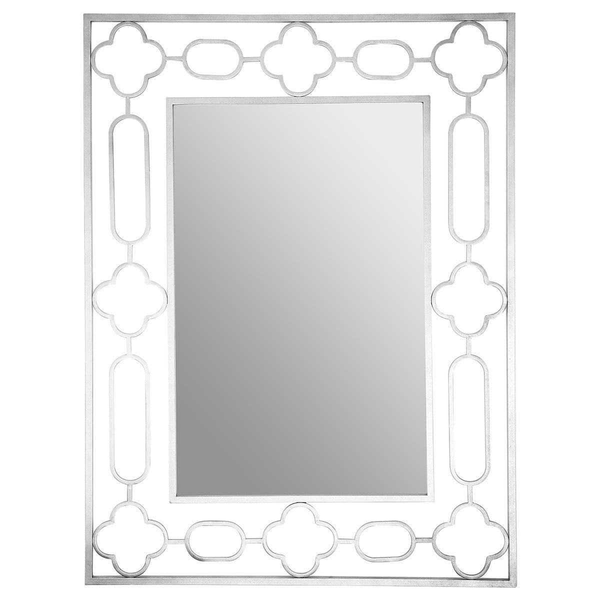 Premier Housewares Merlin Silver Patterned Wall Mirror
