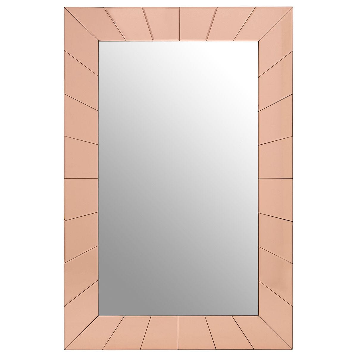 Premier Housewares Kensington Townhouse Earl Wall Mirror - Rose Gold Finish