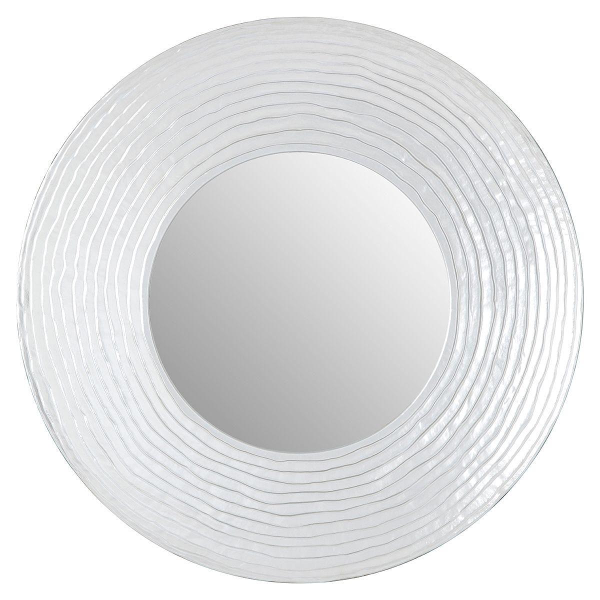 Premier Housewares Round Wall Mirror - Silver Finish