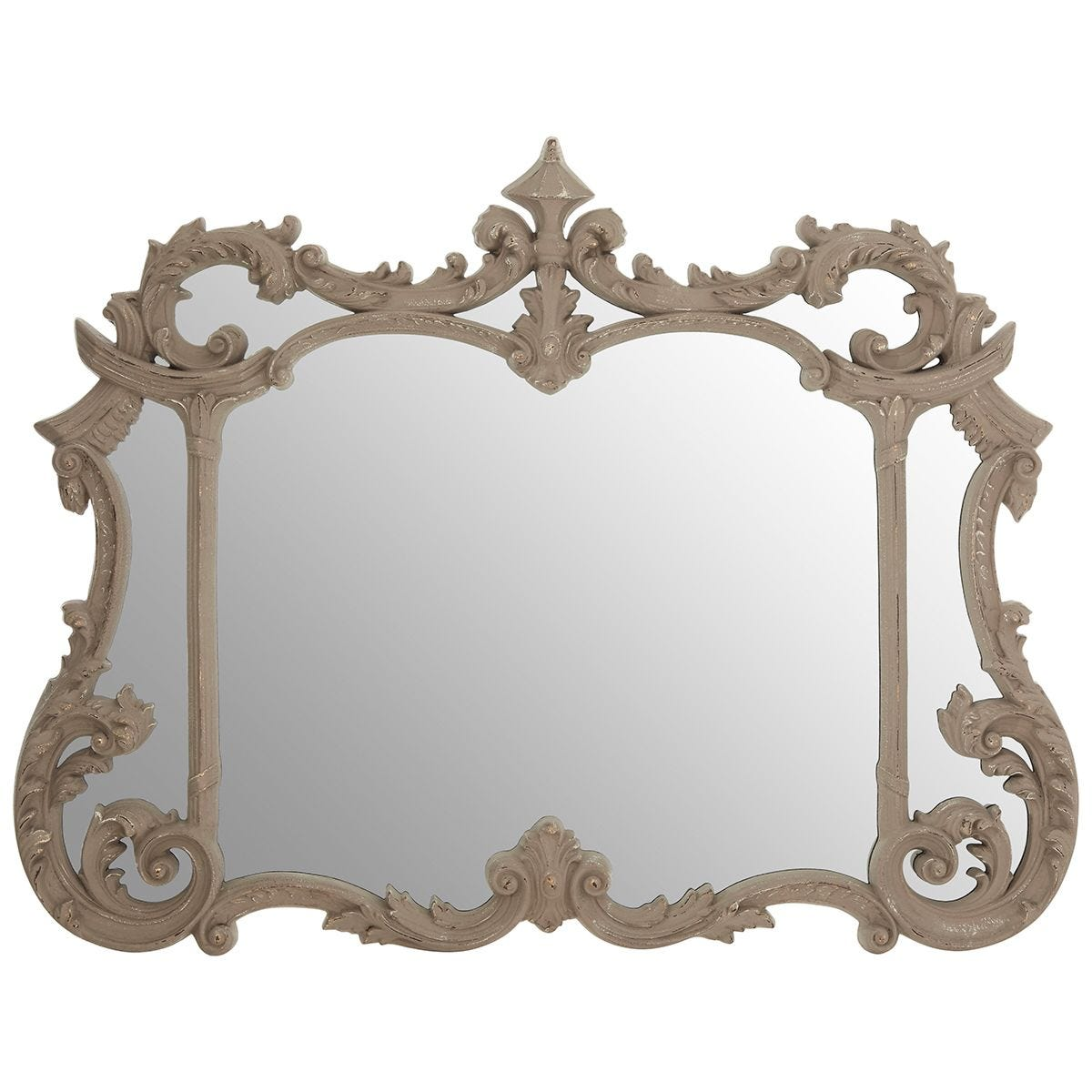 Premier Housewares Haniel Wall Mirror - Antique Grey Finish