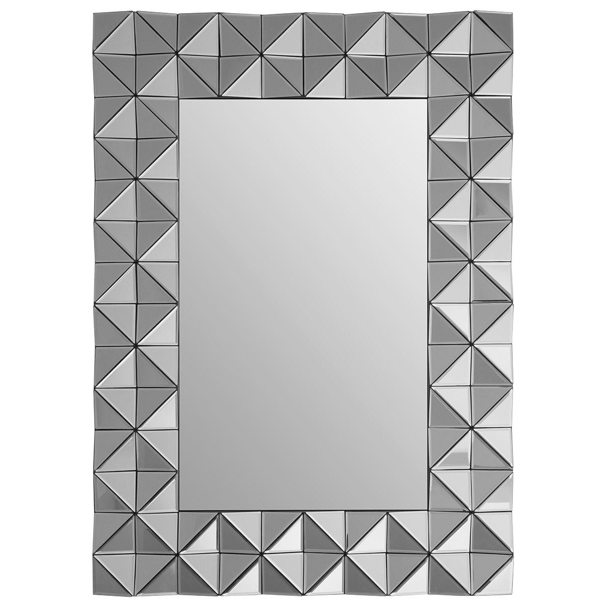 Premier Housewares Soho 3D Wall Mirror - Smoked Glass