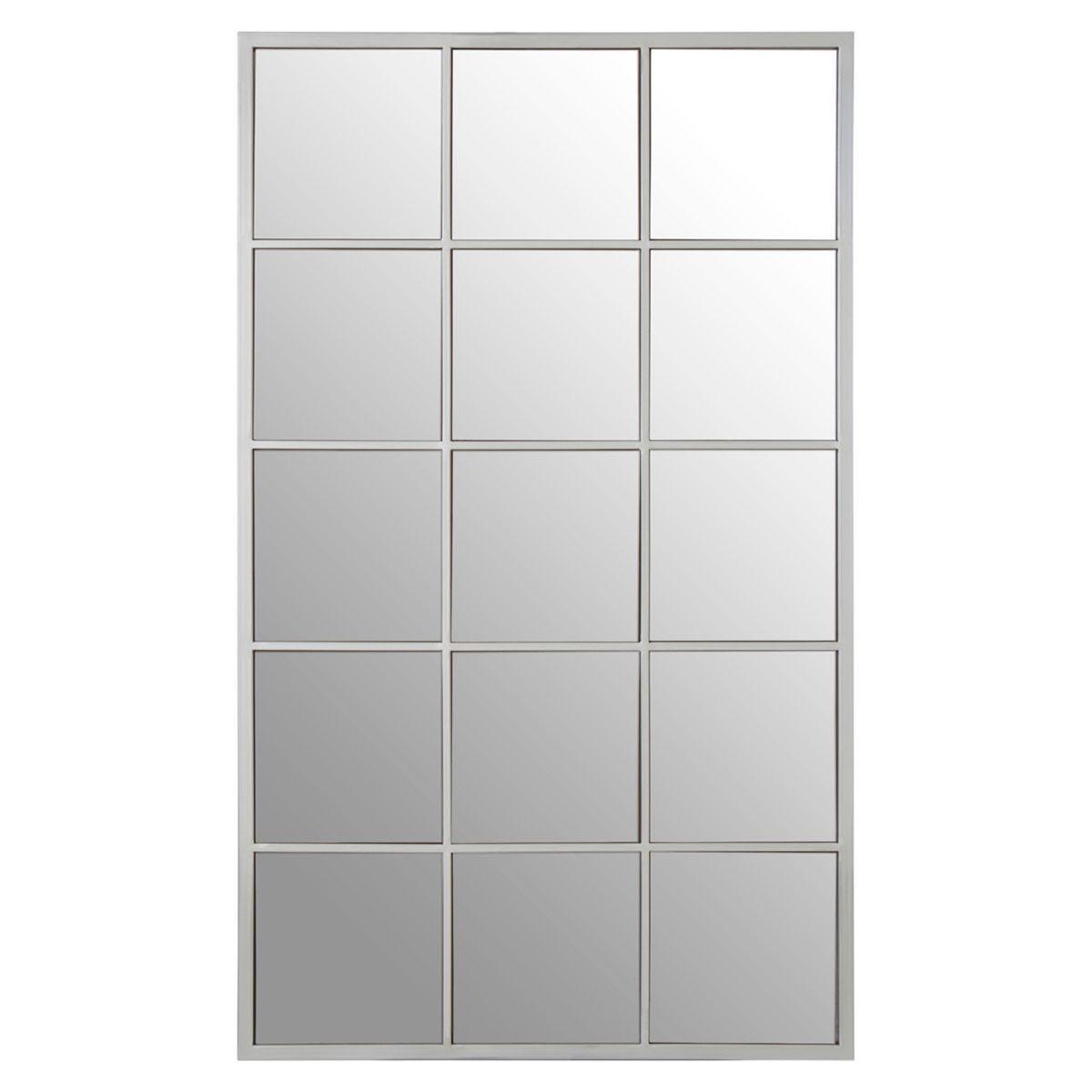 Premier Housewares Descartes Large Wall Mirror - Silver Metal