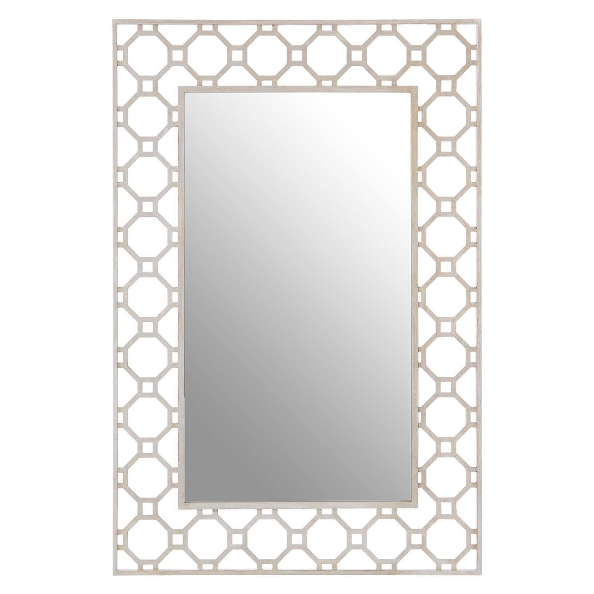 Premier Housewares Zariah Wall Mirror - Antique Silver Finish
