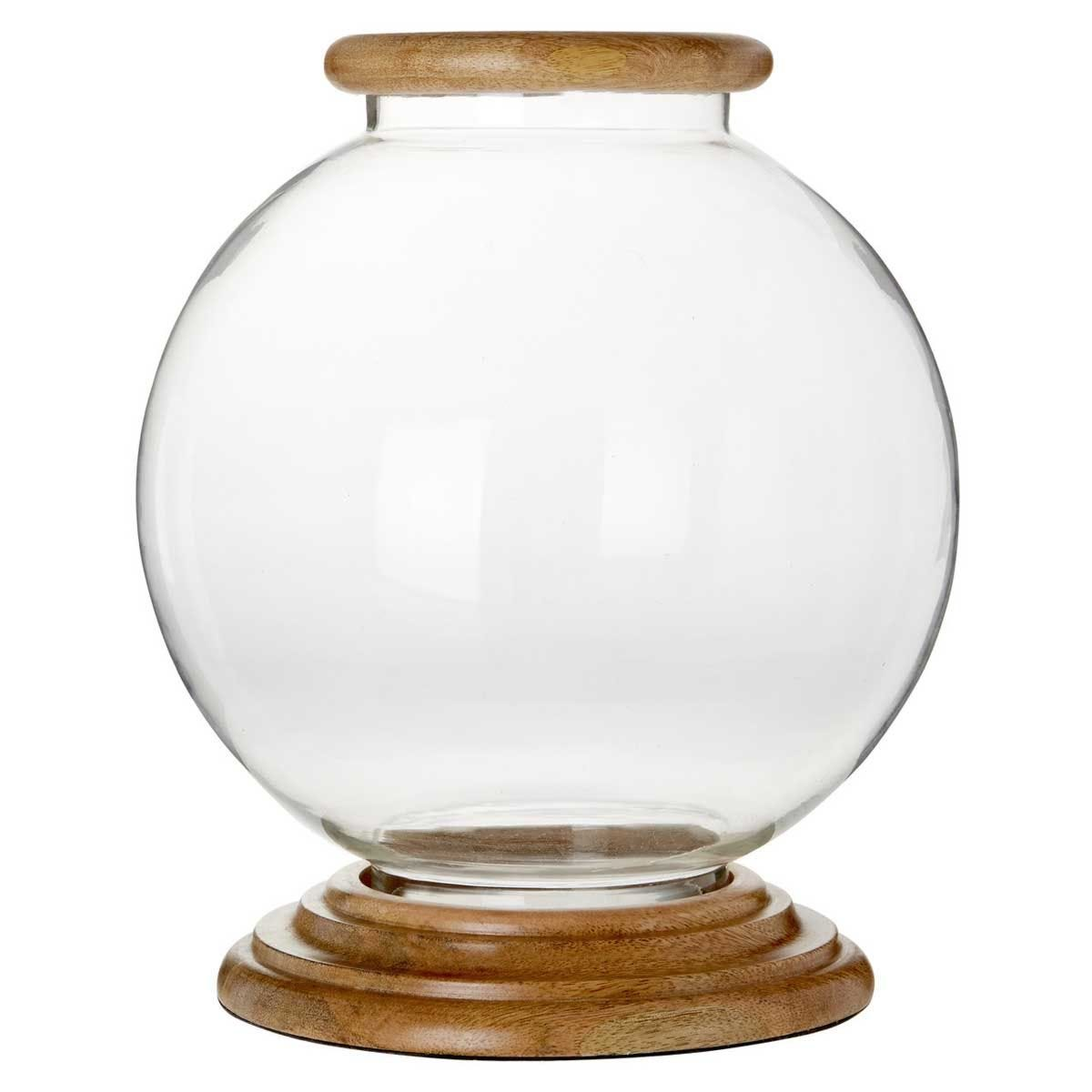 Premier Housewares Hampstead Hurricane Round Candle Holder - Large
