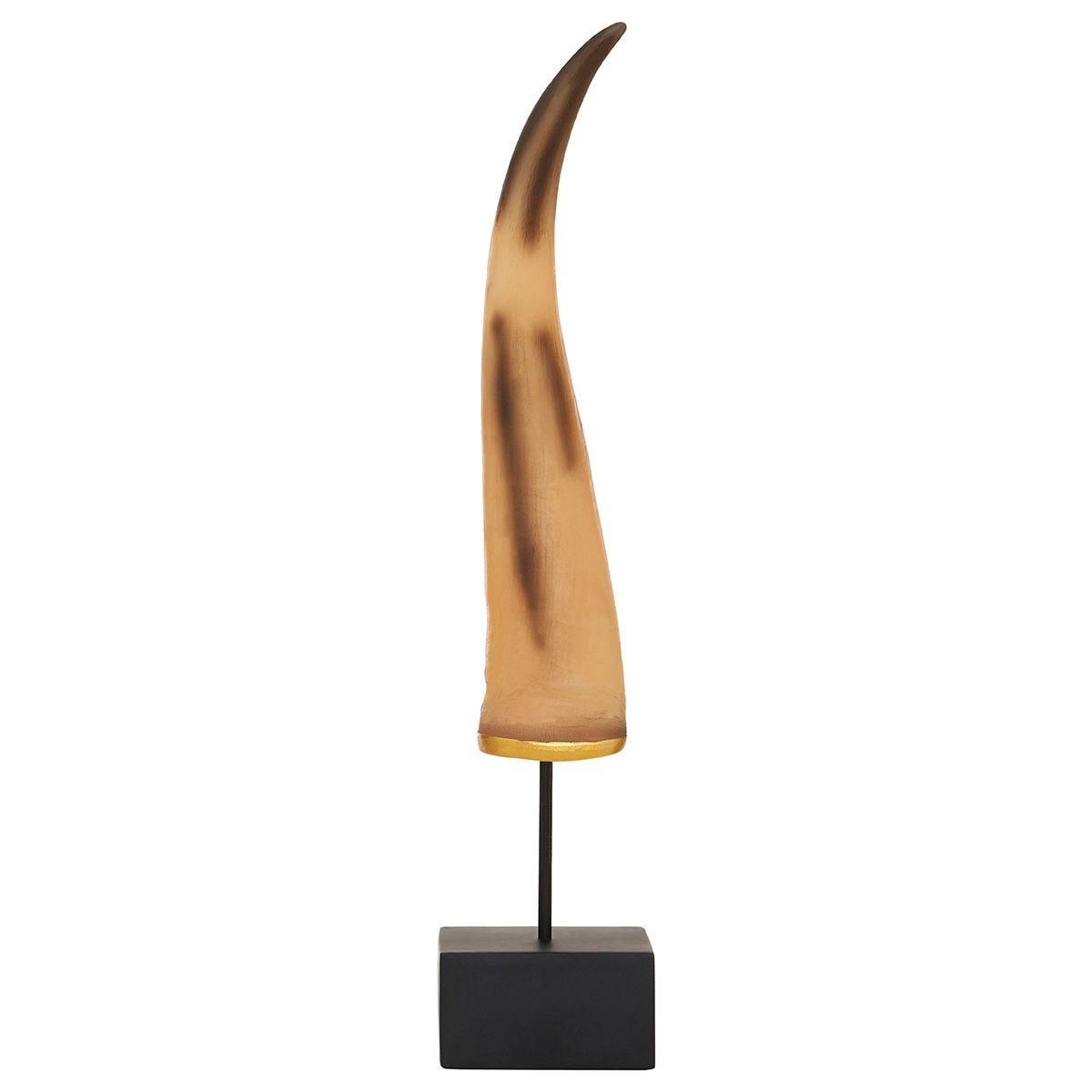Premier Housewares Boho Small Horn Ornament - Natural