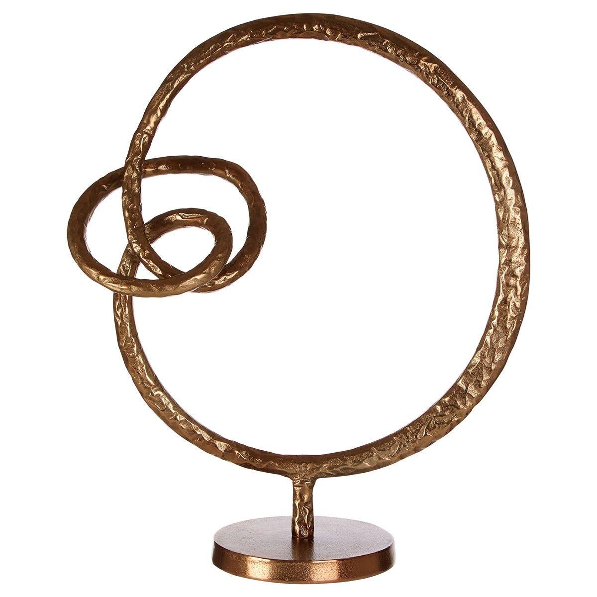 Premier Housewares Nexus Round Sculpture - Rough Bronze Finish