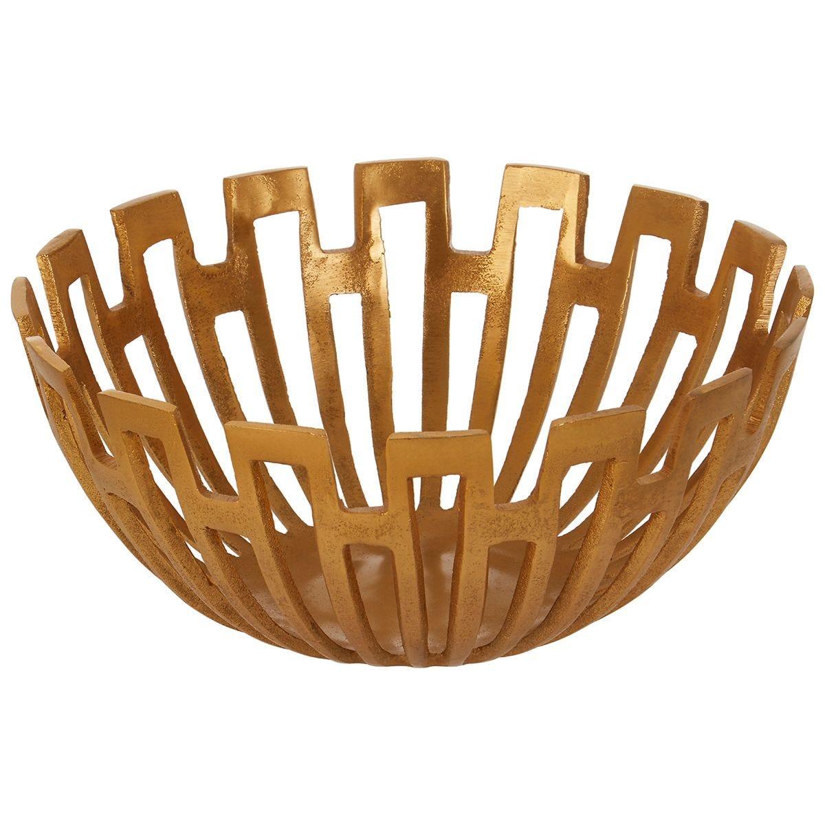 Premier Housewares Delphi  Small Bowl - Gold Finish