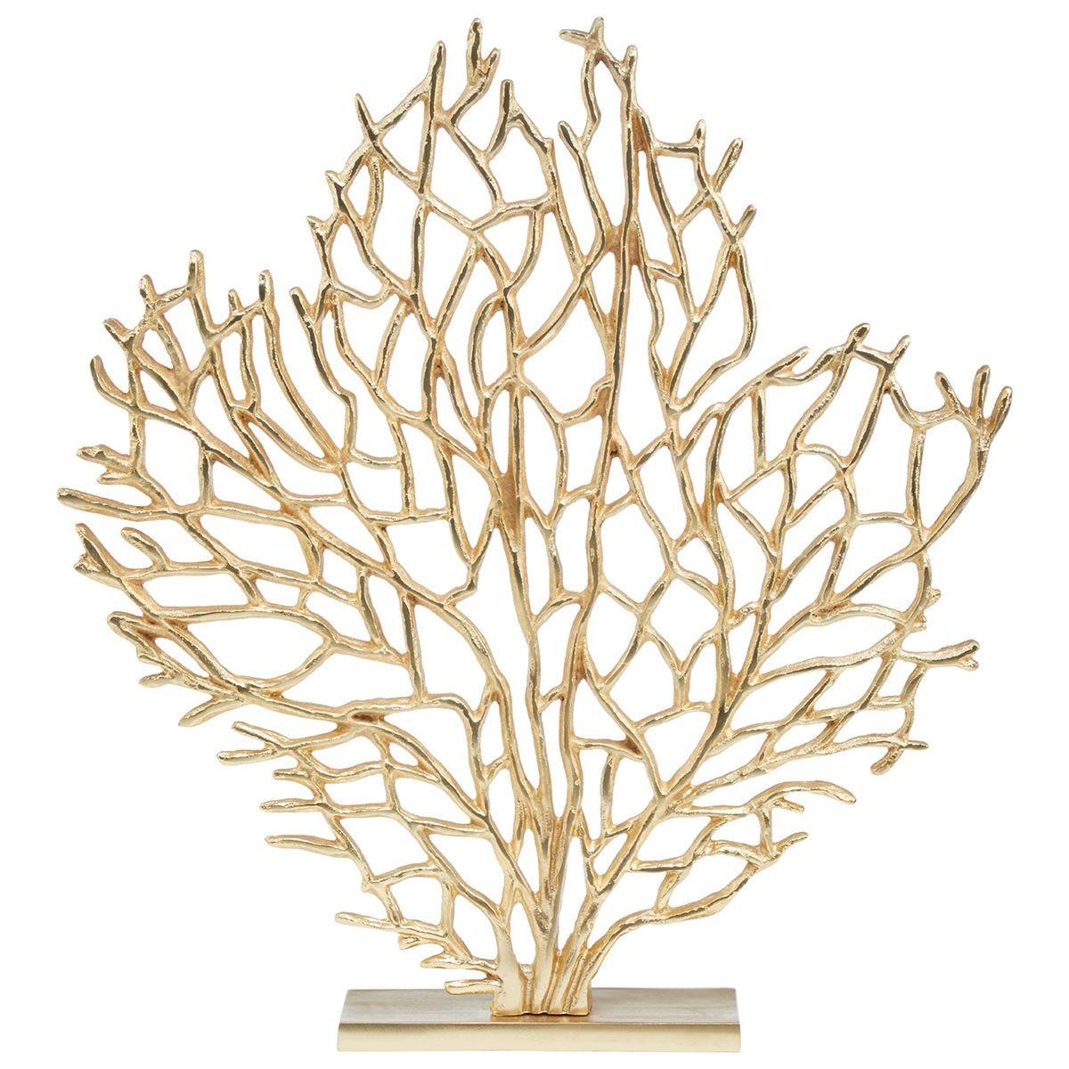 Premier Housewares Prato Large Tree Sculpture - Gold Finish