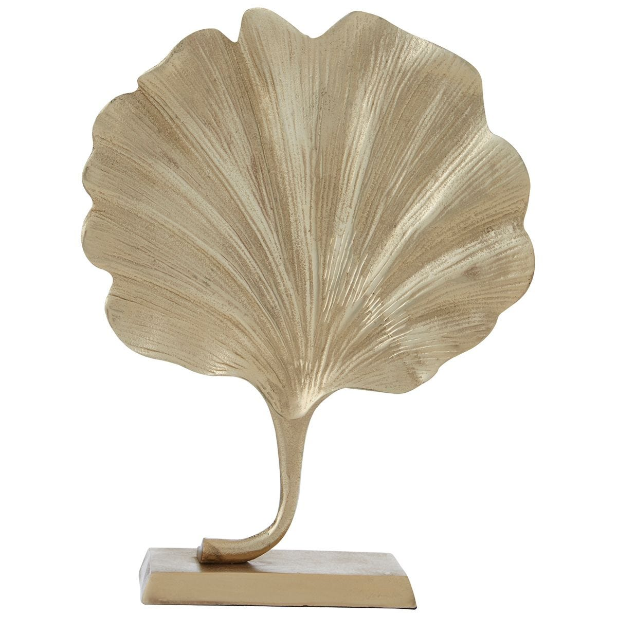 Premier Housewares Prato Leaf Sculpture - Gold finish Aluminium