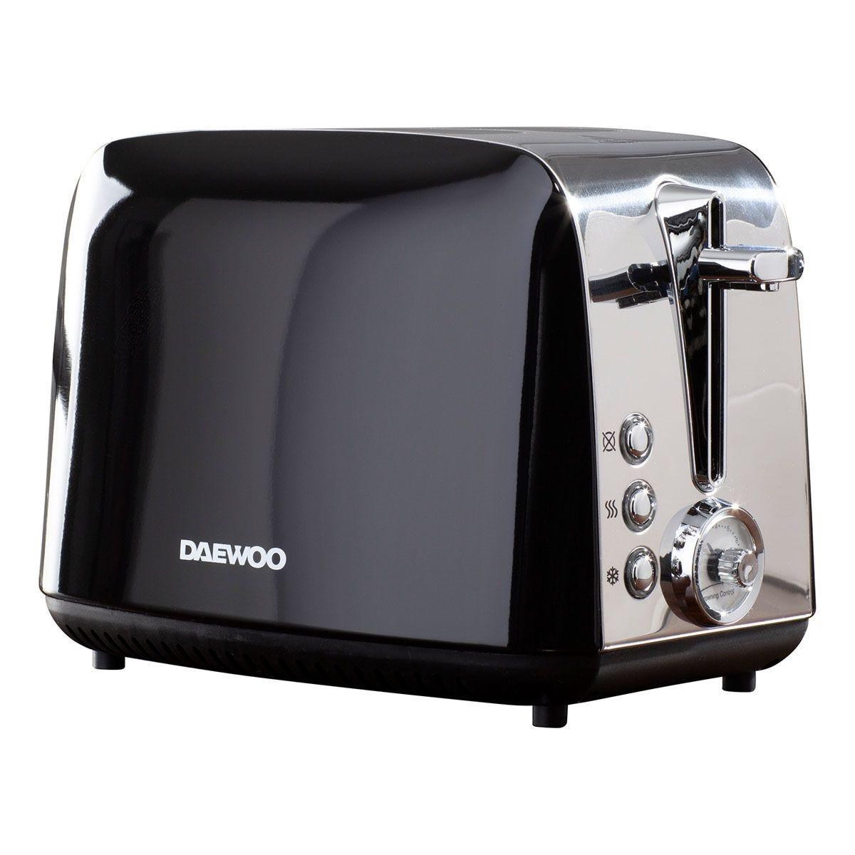 Daewoo SDA1776 Kingsbury 2100W 2-Slice Dial Toaster - Black