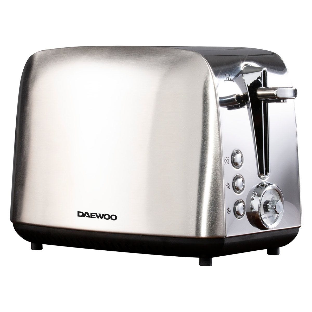 Daewoo Kingsbury 2-Slice Dial Toaster - Stainless Steel