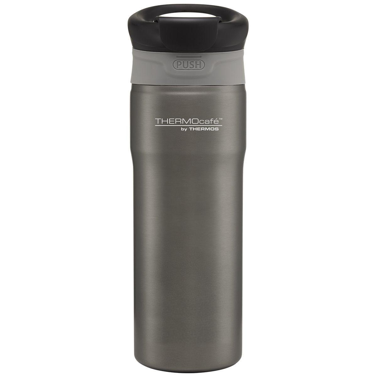 Thermos Push Button 400ml Travel Tumbler - Grey